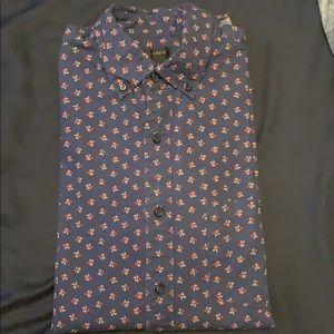 JCrew floral long sleeve shirt